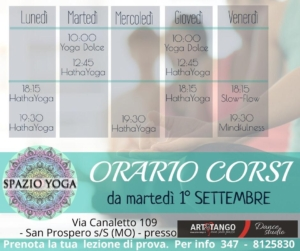 Open week yoga San Prospero