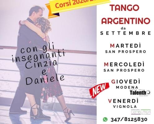 Corso di Tango Argentino a modena