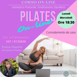 pilates online con cinzia